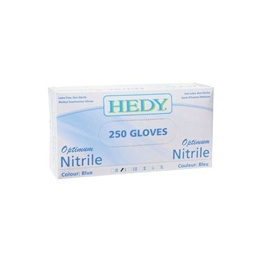 Hedy Optimum Blue Nitrile Powder Free Gloves 250/box - X-Large