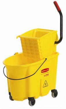 Rubbermaid® Wavebrake® 26/35 Quart Bucket and Sidepress Wringer Combo, Yellow