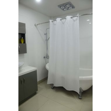 Merit Collection™ Easy Hang Stall Shower Curtains Polyester/Nylon Blend Water Resistant