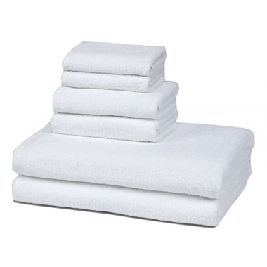 Shangri-La Series™ 100% Combed Cotton Hospitality Bath Towels Ultra-Absorbent Textured Finish White