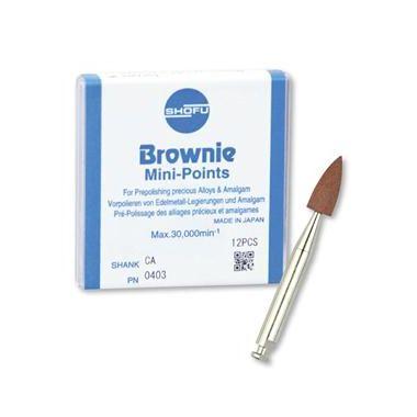 Shofu Brownie Polishers Mini Point FG 12/pkg