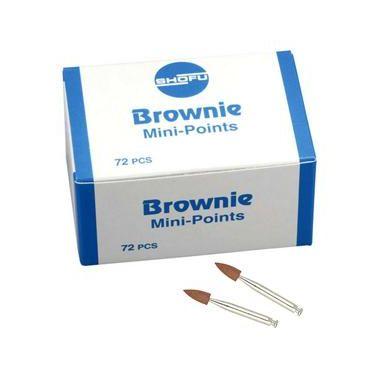 Shofu Brownie Polishers Mini-Point FG 72/pkg