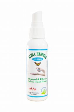 Alpha Hand Sanitizer (Made in Canada) 60mL Spray 75% Ethanol Health Canada Approved- NPN80097946