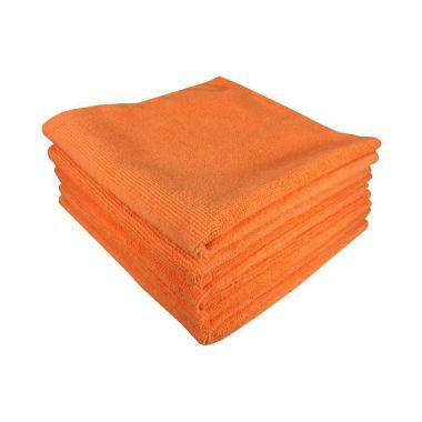 "Gold + Cross Microfiber Cleaning Cloth 12""x 12"" Orange – Pack of 24"