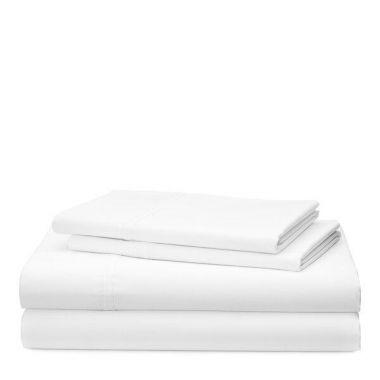 """Thomaston Mills USA T180 Percale Queen Flat Sheet 50/50 Cotton/Polyester 90""""x120"""" White"""