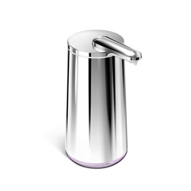 simplehuman High-Grade Polished Stainless Steel Touchless Foam or Liquid Soap Dispenser