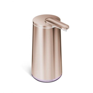 simplehuman High-Grade Rose Gold Stainless Steel Touchless Foam Soap Dispenser