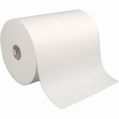 """Universal Fit 100% Recycled Fibre Roll Towels, White, 800', 7.875"""" Width, 6 Rolls/Box"""