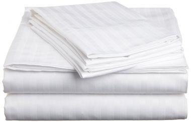 Merit Collection™ T260 Luxury Percale Hospitality Sheets & Pillowcases,1cm TONE ON TONE Satin Stripe