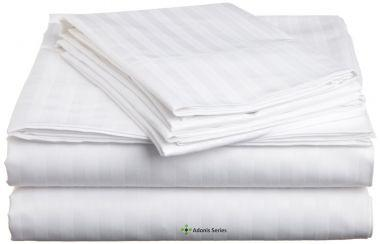 T260 Striped Percale Fitted Sheet