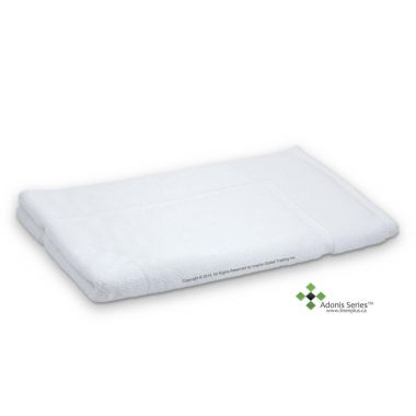 Adonis™ Full Terry 100% Ring Spun Cotton Bathmats 20x30 wt.7.00lbs/dz White -6/Pack