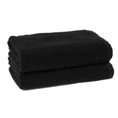 Adonis™Standard Full Terry Ring Spun 100% Cotton Hand Towel 16x28 wt.3.60 lbs/dz.Black - 12/Pack