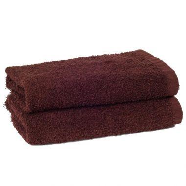 Adonis™ Standard Full Terry Ring Spun 100% Cotton Hand Towel 16x28 wt. 3.60 lbs./dz Brown - 12/Pack