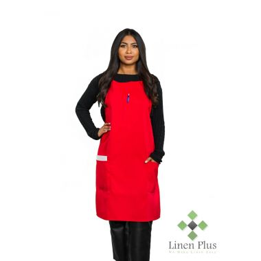 Gold + Cross™ 3- Pocket Commercial Apron Red