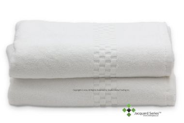 Jacquard Premium 100% Combed Cotton Bath Sheet Color White