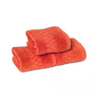 Jacquard Premium 100% Combed Cotton Face Towel 13x13 wt. 2.00 lbs/dz.Coral 6/Pack