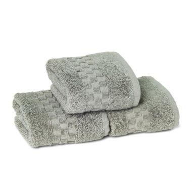 Jacquard Premium 100% Combed Cotton Face Towel 13x13 wt. 2.00 lbs/dz.Dove Grey 6/Pack