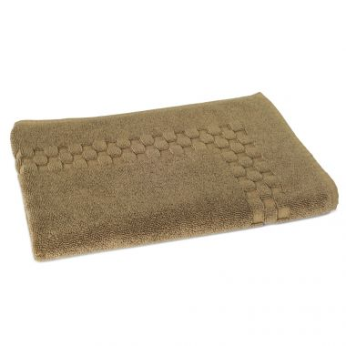Jacquard Premium 100% Combed Cotton Bathmats 20x30 wt.11.00 lbs Tuscan Earth 3/Pack