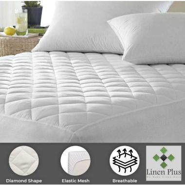 """Supertex™ Commercial Contour Mattress Pads/Topper TWIN Size 39""""x 80""""x 15"""" Fitted Elastic Finish White"""