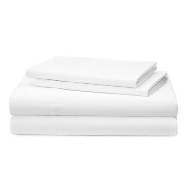 Thomaston Mills USA T180  Percale Hospitality Flat Sheet 50/50 Cotton/Polyester White - 6/Pack