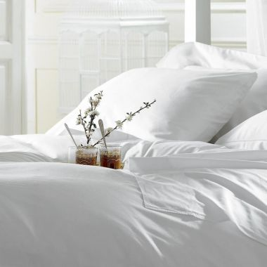 Merit Collection™ T300 Luxury Percale Pillowcase,Sateen Finished, White, 4/Pack
