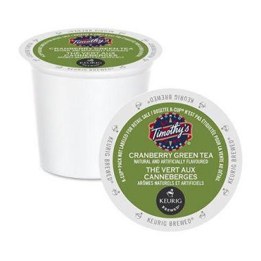 Timothy's Cranberry Green Tea K-Cup® EDKTIMCRANGREEN