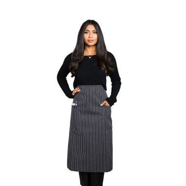 Gold + Cross™ Gangster Stripe Bistro Apron With 02 Pockets