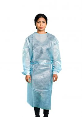 Cleantech Disposable AAMI/ASTM Level 2 Standards  Isolation Gown Knitted Cuff - Pack of 10