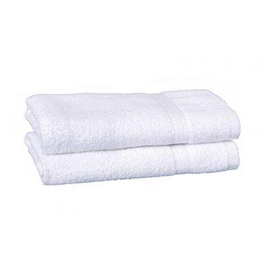 Charisma™ Hotel Hand Towel 86/14 Ringspun Cotton/Polyester 16x30 wt.4.0 lbs/dz.Dobby Border White