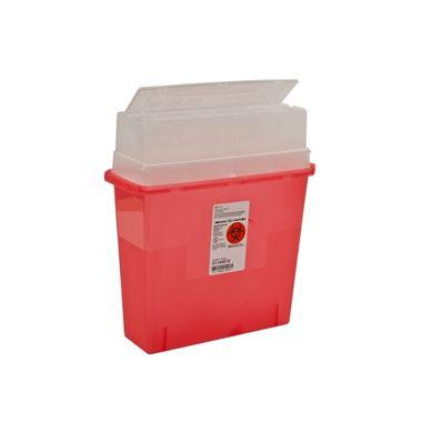 Sharps Container with Tortuous Path Lid, Red, 5 Quart/5 Litre 30/case