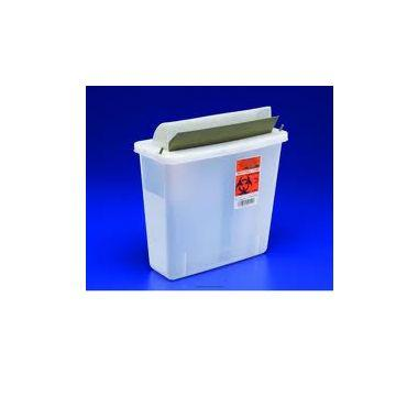 Sharps Container Mailbox Style Lid 5qt Clear