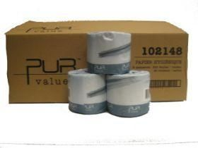 Pur Value Professional Bathroom Tissue, Standard Toilet Paper Rolls, 2-Ply, White, 48 Rolls/Case