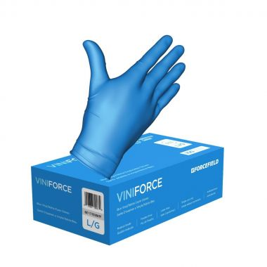 ViniForce Nitrile/Vinyl Synthetic Disposable Examination Gloves Blue- Medium - 100/Box