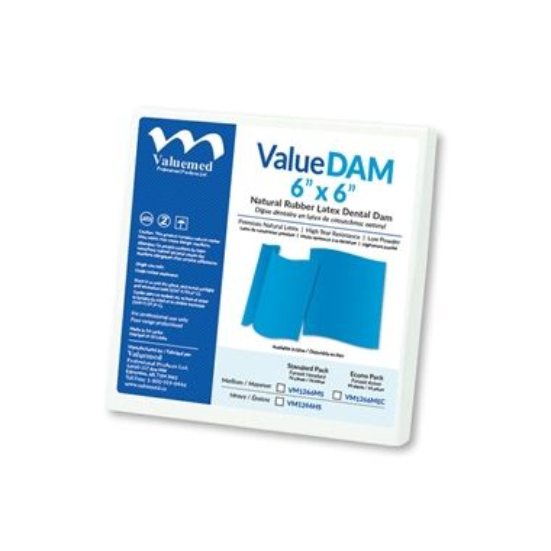 ValueDAM 5x5 Medium Latex Economy Pack, 130/box, Blue