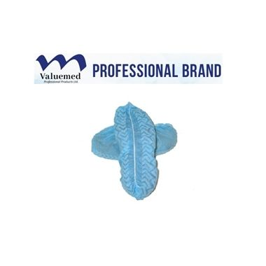 Valuemed Professional Shoe Covers XL, Blue, Non-Skid 100/box