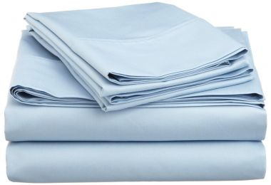 Endurance™ T180 Flat Sheets 55/45 Cotton/ Polyester Wedgewood Blue