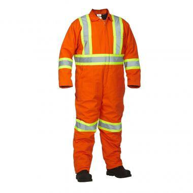 Forcefield Winter Lined Cotton Canvas Safety Coverall