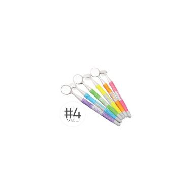 Zirc Crystal HD #5 Soft Grip Vibrant Assorted Mouth Mirror (12 pack)