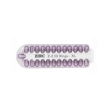 Zirc E-Z ID Rings X-Large 25/pkg, Neon Purple
