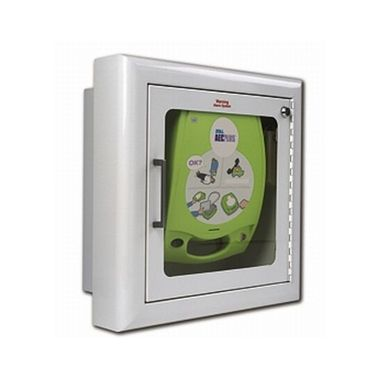 Zoll AED Plus Semi-Recessed Alarmed Wall Cabinet