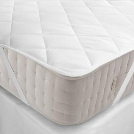 Supertex Anchor Band Mattress Pads Topper Quilted King Size 78 X 80 White Linen Plus
