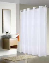 Merit Collection Easy Hang Shower Curtains Water Resistant Nylon Single Layer 72 X 77