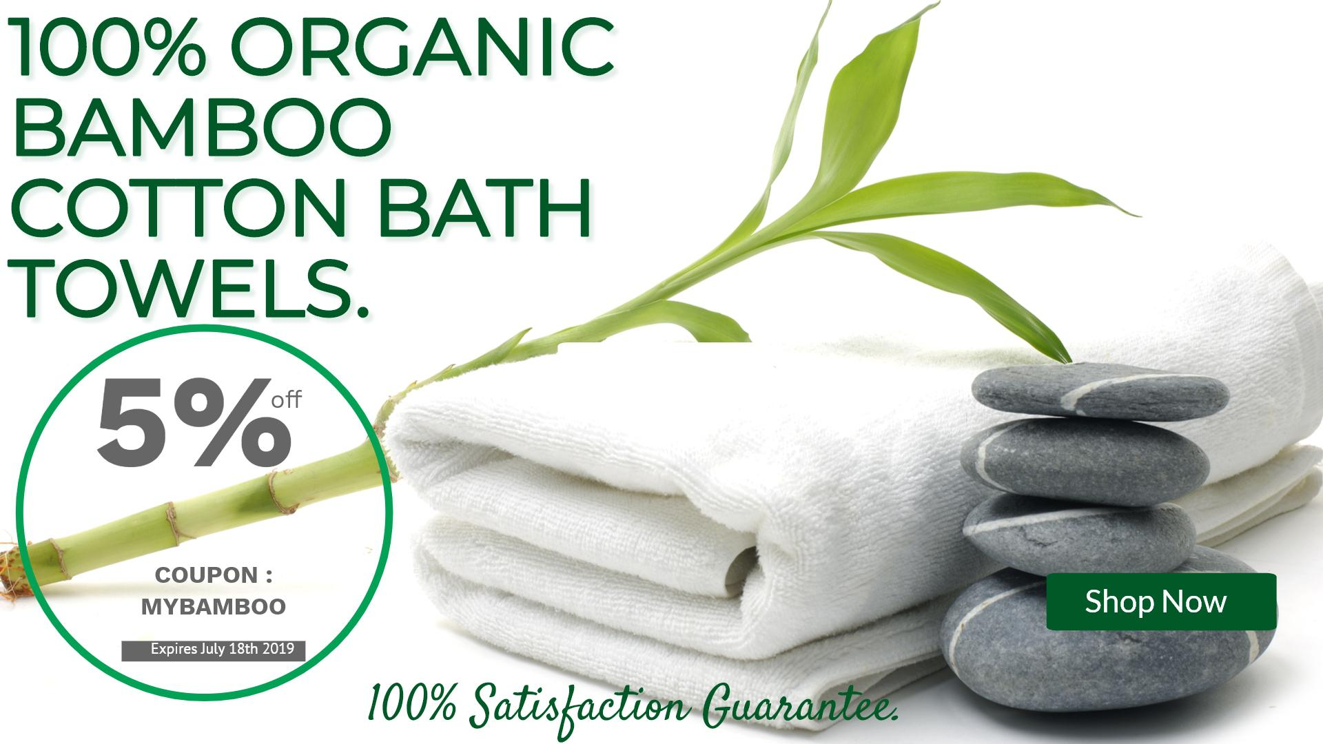 100% Organic Bamboo Towels