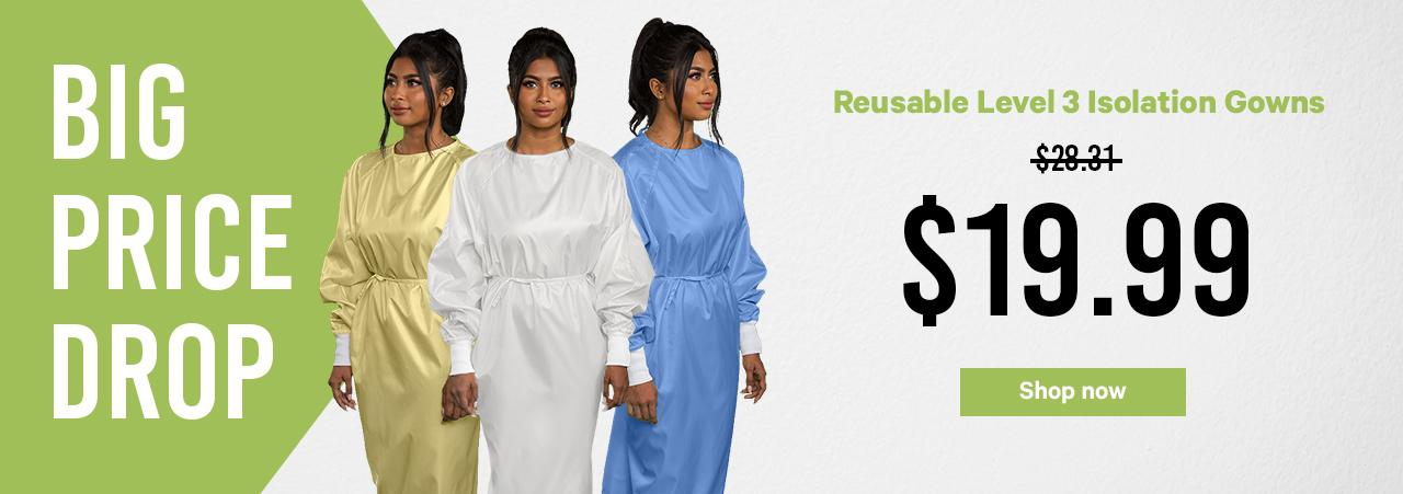 Isolation Gowns Drop price